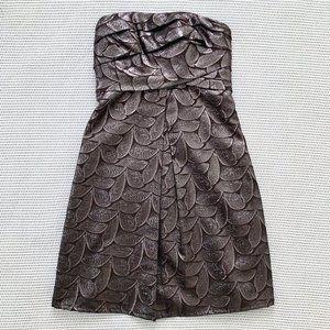 Vera Wang Lavender Label Metallic Strapless Dress